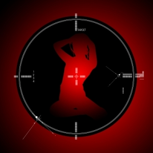 Image of a woman as a target.