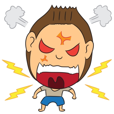 caricaature of angry man